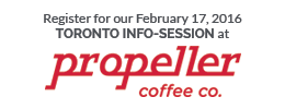 Register here for our February 17 Toronto Info-Session at Propeller Coffee Co.